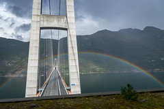 Rainbow over Hardangerbridge (photobeyDE) Tags: architektur brücke norwegen urlaub wasser norway norwegenfreunde hardanger hardangerfjord hordaland beautifulcreation beautifulnorway langzeitbelichtung longtimeexposure wasserfall waterfall water lake see fjord outdoor natur nature landschaft landscape jwshutterbugs jwphotography jwsnapshots sonyimages sonyalphasclub sonyworldclub sony alphaddicted slt a77mk2 1650f28 ullensvang no