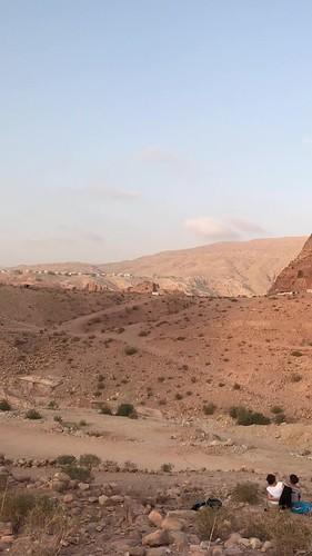 Sunset, the Royal Tombs, Petra, Jordan