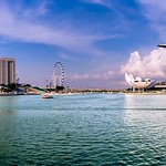 Marina Bay Esplanade - Panoramic view of the Marina Bay Skyline thumbnail