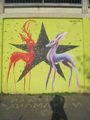 898 (en-ri) Tags: anamaken cerbiatti rosso nero lilla stella star torino wall muro graffiti writing