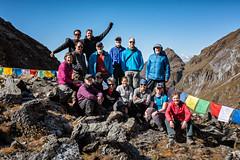 Group of trekkers at Tempe La pass - Wangdue Phodrang district - Snowman Trek - Bhutan (PascalBo) Tags: nikon d500 asie asia southasia asiedusud drukyul drukgyalkhap bhutan bhoutan འབྲུག་ཡུལ། འབྲུག་རྒྱལ་ཁབ་ snowman trek trekking hike hiking lunana wangduephodrang himalaya himalayas montagne mountain trekker buddhism bouddhisme religion people outdoor outdoors pascalboegli