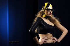 Aggressive! (marcomariamarcolini) Tags: indoor d810 marcomariamarcolini fashion beauty dark black shadows lady pleasant exquisite stunning brunette sensual nikkor85mmf14g girl woman beautiful makeup hairdressing nikonlive portrait blackbackdrop ritratto milan italian italy aggressive francescofranciafotografo