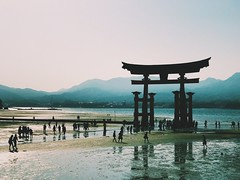 Itsukushima Shrine, Miyajima (dan10stevens) Tags: silhouette shrine heritage world scenic tourist travel japan hiroshima miyajima