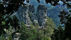 Elbsandstein (marcostetter) Tags: elbsandsteingebirge travel germany saxony sachsen reise bastei nature landscape hiking trail