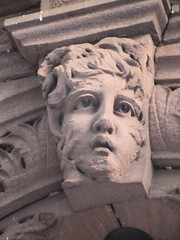 Wind Blown Gargoyle Face Above Doorway 4811 (Brechtbug) Tags: wind blown gargoyle face above doorway building facade 25th street between 7th 8th avenues brownstone entrance nyc 11122018 new york city midtown manhattan 2018 gargoyles portraits monster portrait monsters creature faces spooky art architecture sculpture keystone mask brownstones brown stone