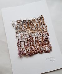 message (Ines Seidel) Tags: newspaper news paper fiberart fibreart paperart zeitungspapier zeitung wire crochet draht häkeln rust rost study studie