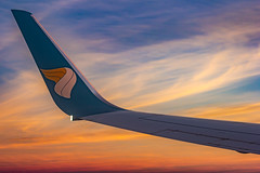 Oman Air B737-800 A4O-BAB (Aiel) Tags: omanair boeing b737 b737800 a4obab winglet sunrise canon60d canon24105f4lis