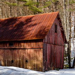 Red Barn - Vermont (davetherrienphoto) Tags: weatherworn rust rusted snow barn winter vermont red