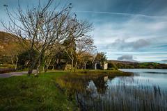 gougane barra (viewsfromthe519) Tags: gougane barra cork county corcaigh ireland rural mountains morning sunny church lake water blue sky clouds