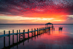 Outer Banks North Carolina Sunset Seascape Photography Duck NC (Dave Allen Photography) Tags: outerbanks northcarolina nc obx duck sunset seascape nature outdoors beach albemarle dock nikon d810 singhray boardwalk coastal