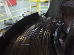 Resize of P1360509 (OpalStream) Tags: rudder marine vessel repair works overhauling workshop measurements filler gauge dirt