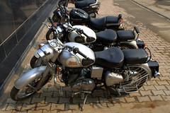 Royal Enfield (Weltbürgerin) Tags: india uttar pradesh varanasi street bikes