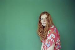 b a little tremulous (Ian Allaway) Tags: portrait analogue 35mm nikonfm2 kodak color 200