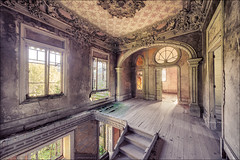 Art Nouveau (Midnight - Digital) Tags: artnouveau architecture abandoned hacienda lost forgotten decay ancient walls windows house mansion
