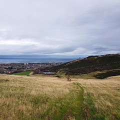 "The view to Leith. It's surprising to walk past the Scottish Parliament and find yourself in the countryside. No gradual change from urban to rural. You're just there. <a style=""margin-left:10px; font-size:0.8em;"" href=""http://www.flickr.com/photos/56791810@N02/32350665498/"" target=""_blank"">@flickr</a>"