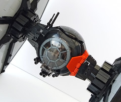 Close up front (Rubblemaker) Tags: star wars starwars lego building blocks first order tie fighter
