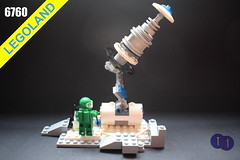 6760 Remote Tracking Station (Harding Co.) Tags: lego space scifi classic future futuron rover buggy supply station track tracking remote antenna science scene scientist minifigure minifigures lunar exploration white blue grey black base research