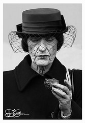DS0D9631-Ulverston-Dickensian (duncancooke.happydayz) Tags: food black white bw cake hat lady woman