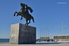 Statue of Alexander the Great, King of Macedonia 🇬🇷 (Chris Maroulakis) Tags: king alexanderthegreat macedonia thessaloniki sarissa buchefala horse nikond7000 chris maroulakis greece 2018 macedoniagreece makedonia macedoniatimeless macedonian macédoine mazedonien μακεδονια