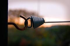 Taut (Alex . Wendes) Tags: spring line clothesline hook bokeh d50 nikond50 1855mm nikon1855mm
