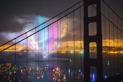 Lights Out, San Francisco (Thomas Hawk) Tags: 75thbirthdaygoldengatebridge america batteryspencer california goldengatebridge marin marinheadlands sanfrancisco usa unitedstates unitedstatesofamerica bridge fireworks millvalley us fav10 fav25 fav50 fav100