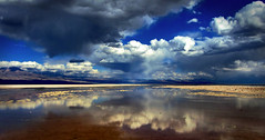 Salt Flats (Alexander H.M. Cascone [insta @cascones]) Tags: south america southamerica chile latinoamerica san pedro sanpedro sanpedrodeatacama atacama desert nature travel water reflection clouds sky natural landscape blue beautiful view