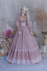 Frost Peony (AyuAna) Tags: bjd ball jointed doll dollfie ayuana design minidesign handmade ooak clothing clothes dress set outfit gown robe vetement habilles fashion couture sewing sewingfordolls sd sd13 sd10 size historical edwardian style littlemonica little monica chloe harmony body whiteskin