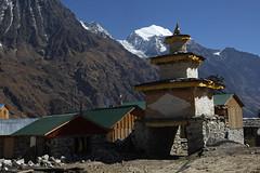 152. Kutang Himal, Shyala, Gorkha District, Manaslu Trek, Nepal (Jay Ramji's Travels) Tags: nepal kutanghimal shyala gorkhadistrict manaslutrek mountain landscape himalayas summit ridge glacier chorten buddhism houses village
