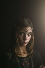 (Rebecca812) Tags: portrait fineartportrait creativeportraiture costume queen regal confident cross crown armscrossed canon people studio painterly lightpainting girl beauty princess dark lowlight lowkey rebeccanelson rebecca812 headandshoulders