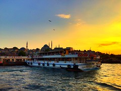 Istanbul (maryduniants) Tags: cruise sea mosque ship turkey istanbul sunset