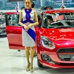 Beautiful presenter for Suzuki at the 35th Thailand International Motor Expo at IMPACT Challenger Hall in Muang Thong Thani, Nonthaburi thumbnail