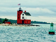 Island Light (Ellery Images) Tags: elleryimages huron lake water island building lighthouse lead light