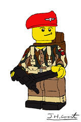 British Para Illustration + Update (jedanimationstudios) Tags: ww2 paratrooper lego brickarms brick minifig drawing illustartion photoshop graphics tablet huion update