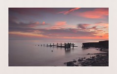 Time takes it's Toll (hall1705) Tags: timetakesitstoll sea seascape longexposure beach climping westsussex nature structure breakwater derelict shore d3200 nikon sunset duskypink coloursofdusk dusk