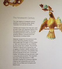 Museum Placard: History of 19th Century Jewelry (Suni Lynn Lee) Tags: ulster museum belfast art history jewelry