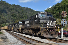 """""""Up Close and Personal"""" (Tristan_Miller) Tags: ns norfolk southern coal train dry fork branch cpl color position light ieager west virginia"""