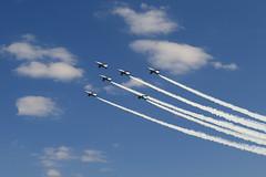 Acrobat Fleight (seiji2012) Tags: 入間市 航空自衛隊 曲芸飛行 青空 雲 ブルーインパルス iruma sky airplane cloud jet