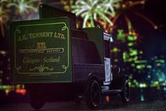 green delivery (Uniquva) Tags: green macromondays toy truck macro cityscape bier brew