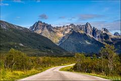 Roads of Lofoten (Stefan Bock) Tags: lofoten norway norwegen landscape landschaft travel reise natur nature nopeople traveldestinations beautyinnature mountains berge road strasse roadtrip bluesky blauerhimmel