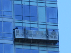 2018 Window Washers Cleaning Apartment Tower 3901 (Brechtbug) Tags: 2018 window washers cleaning glass apartment building tower from hells kitchen clinton near times square broadway nyc 10292018 city midtown manhattan spring springtime weather dark low hanging cumulonimbus cumulus nimbus cloud hell s nemo southern view ny1 windows washer scaffold rig platform off buildings clean october