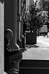 Cigarette break (gonzo4474) Tags: nycphotography blackandwhite nycstreets nycstreet newyork