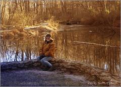 Linda at Nixon Park (scottnj) Tags: 365the2018edition 3652018 day326365 22nov18 water stream richardmnixonpark scottnj linda scottodonnellphotography portrait goldenhour trees york yorkpa pennsylvania happythanksgiving