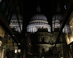 Reflections (ryorii) Tags: canon light darkness shopwindows night reflections dome cupola chiesa church cattedrale cathedral londra london stpaul
