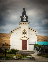 St Anthony's Church Pescadero (CDay DaytimeStudios w/1,000,000 views) Tags: bluesky california church cloudy coastline highway1 pacificcoast pacificcoasthighway pescaderoca