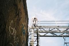 (homesickATLien) Tags: 35mm film art kodak expired mjuiii olympus analog melbourne victoria australia expression tracks stairway heaven climb light shadow darkness