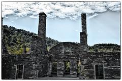 Phantoms chemineys blowing clouds (ilana.greendel) Tags: breizh bretagne brittany bretaña abbey
