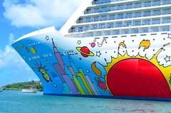 Back to the Ship (Neal D) Tags: saintlucia ship cruiseship castries port norwegianbreakaway ncl norwegiancruiseline art petermax