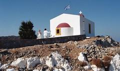 Το ξωκλήσι του Προφήτη Ηλία στη Λέρο, κοντά στο Κάστρο Παντελίου. (Greece, Leros, Panteli). (Giannis Giannakitsas) Tags: greece grece griechenland λεροσ παντελι leros panteli canon eos 10 s slr 35 mm film camera