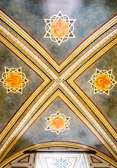 DSCF3706 (Patrick Hadfield) Tags: architecture castle palazzo medieval painting ceiling vaulting fresco blue stars