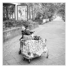 Arduous journey (sdc_foto) Tags: sdcfoto street streetphotography bw blackandwhite woman homeless berlin pentax k1 people poverty